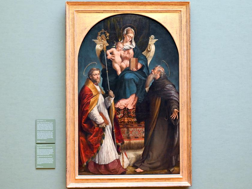 Jacopo Bassano (da Ponte): Maria mit Kind und den hll. Martin und Antonius Abbas, 1542 - 1543