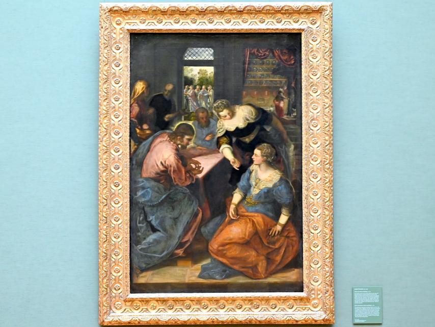 Jacopo Robusti (Tintoretto): Christus bei Maria und Martha, Um 1580