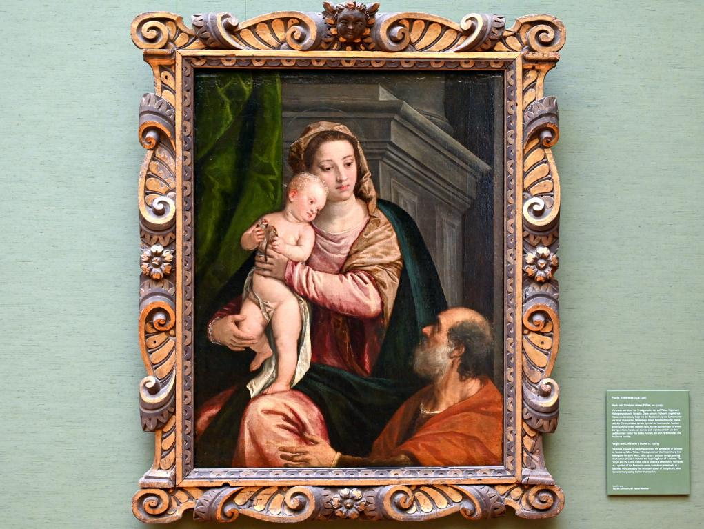 Paolo Caliari (Veronese): Maria mit Kind und einem Stifter, Um 1550 - 1555