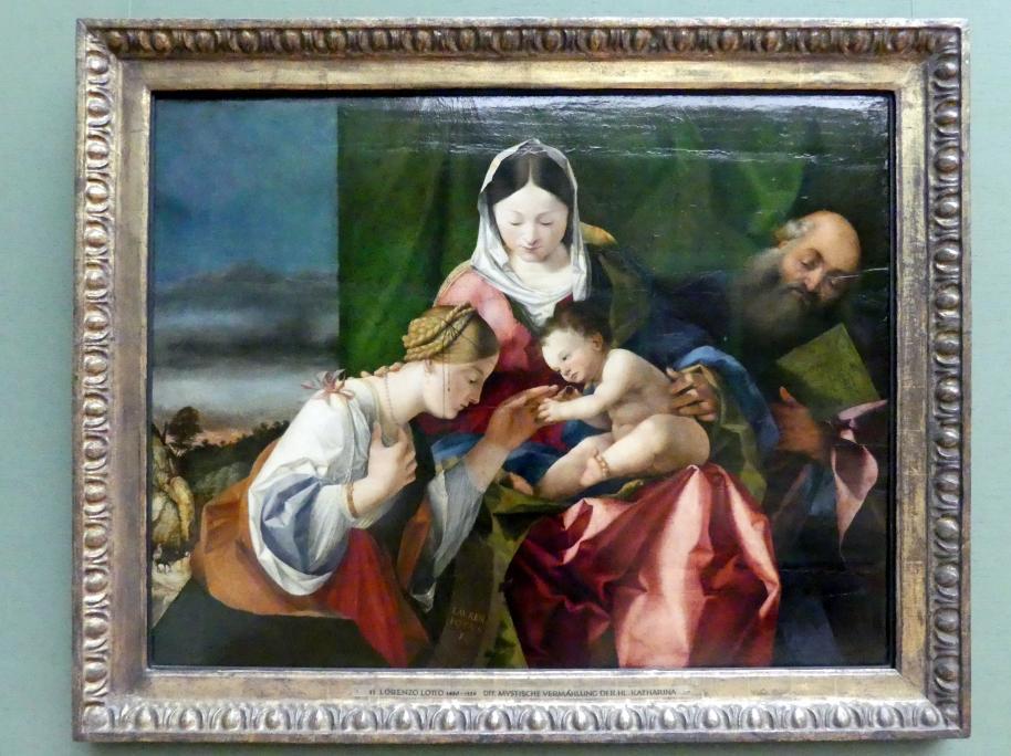 Lorenzo Lotto: Die mystische Vermählung der hl. Katharina, um 1505 - 1508