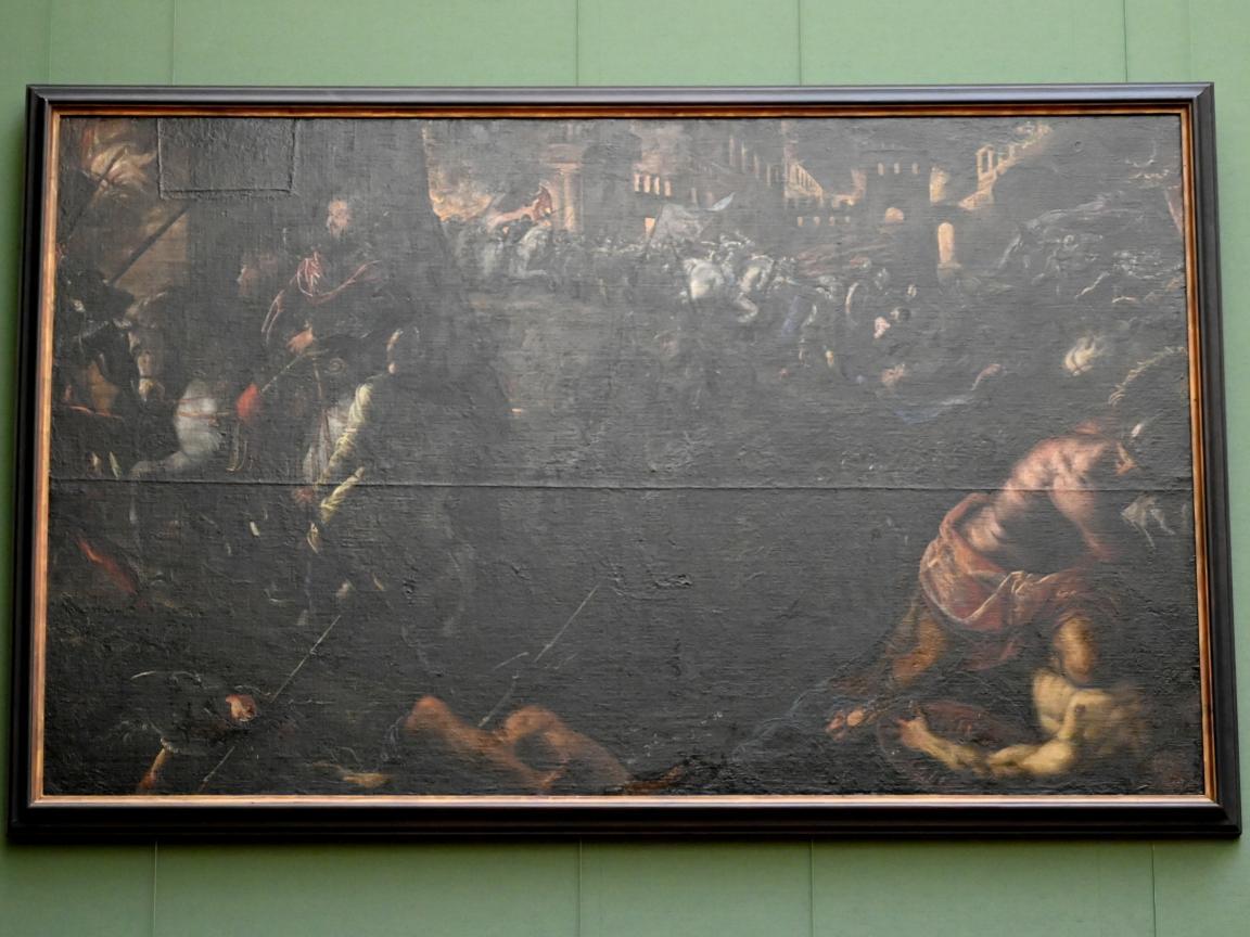 Tintoretto (Jacopo Robusti): Federico II. Gonzaga nimmt Mailand ein, Um 1579 - 1580