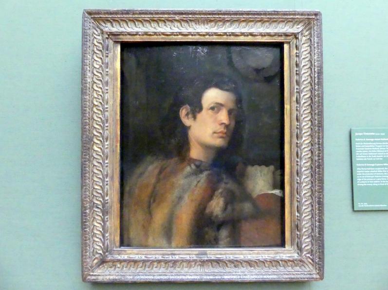 Giorgio da Castelfranco (Giorgione): Brustbild eines jungen Mannes, Um 1510