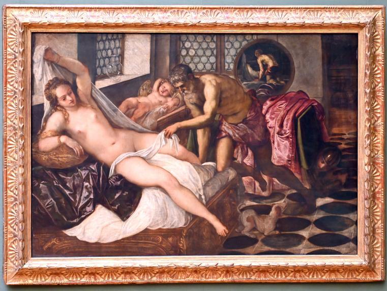 Jacopo Robusti (Tintoretto): Vulkan überrascht Venus und Mars, Um 1555