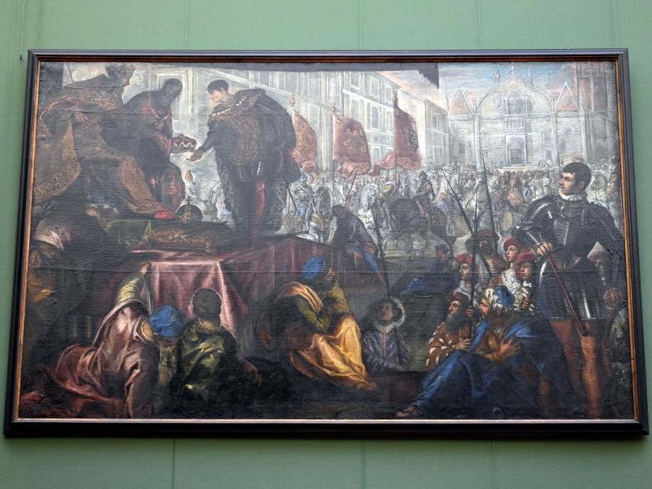 Jacopo Robusti (Tintoretto): Die Erhebung des Giovanni Francesco zum Markgrafen von Mantua, Um 1578 - 1579