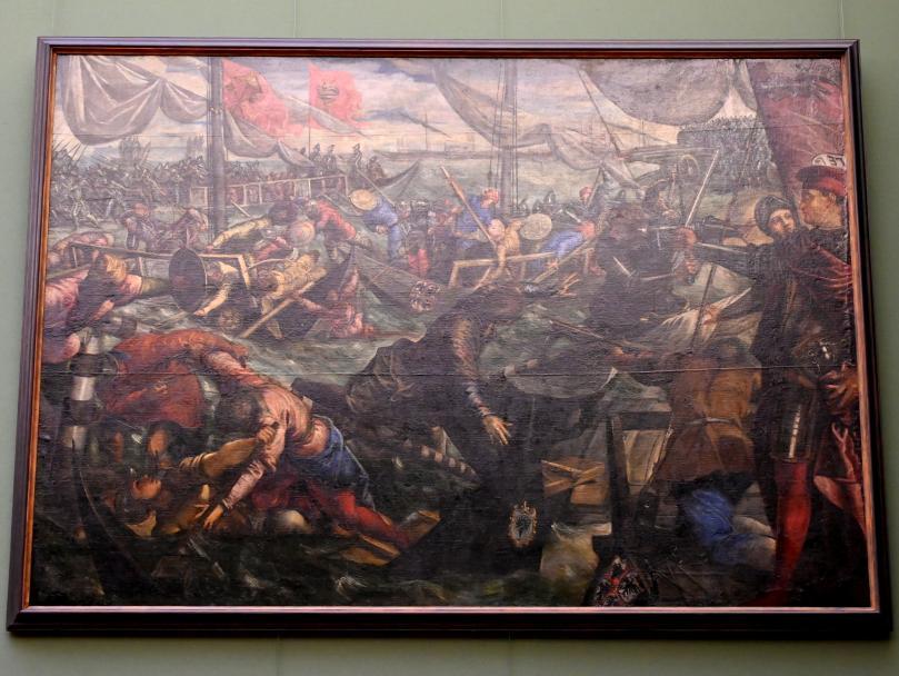 Jacopo Robusti (Tintoretto): Ludovico Gonzaga besiegt die Venezianer auf der Etsch bei Legnago, Um 1578 - 1579