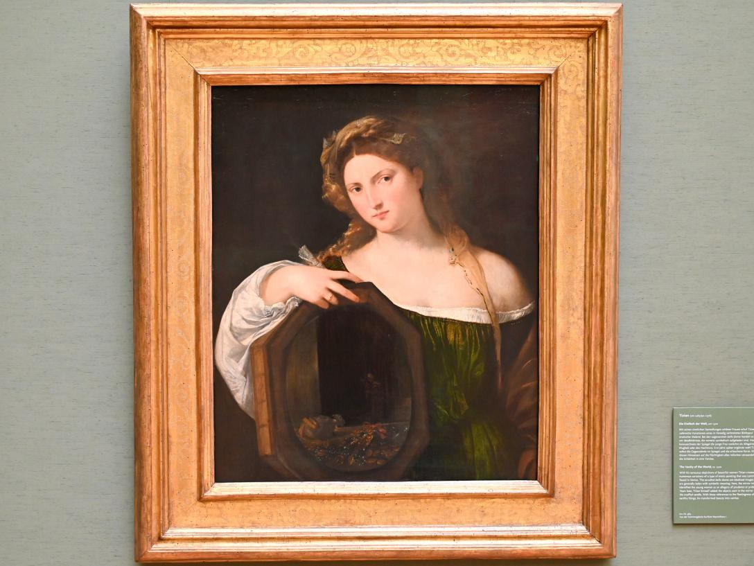 Tiziano Vecellio (Tizian): Die Eitelkeit der Welt, um 1520