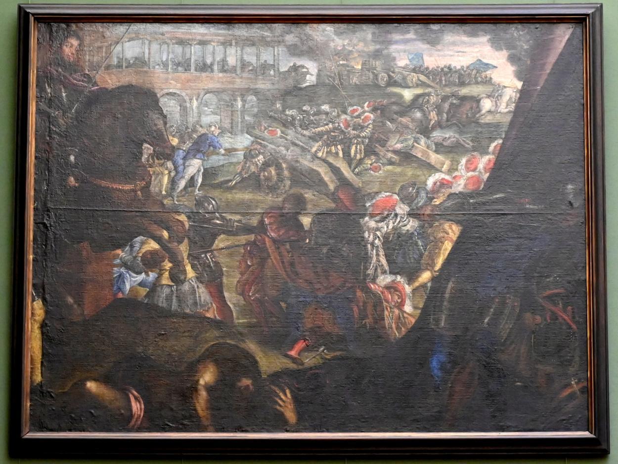 Tintoretto (Jacopo Robusti): Federico II. Gonzaga verteidigt Pavia, Um 1579 - 1580