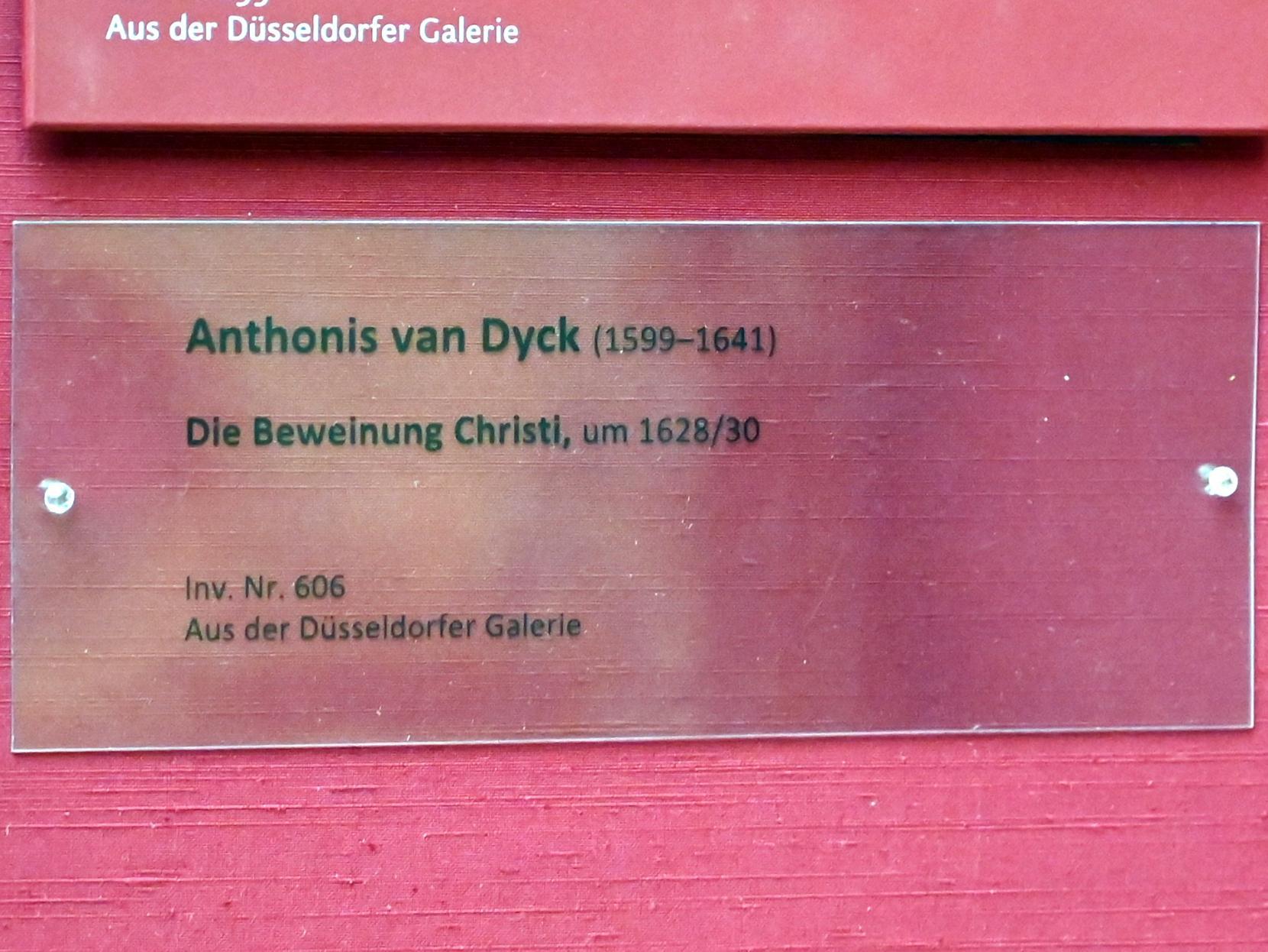 Anthonis (Anton) van Dyck: Beweinung Christi, 1634, Bild 2/2