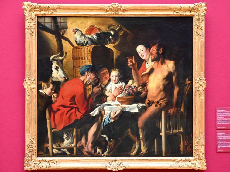 Jacob Jordaens: Der Satyr beim Bauern, Um 1620 - 1621
