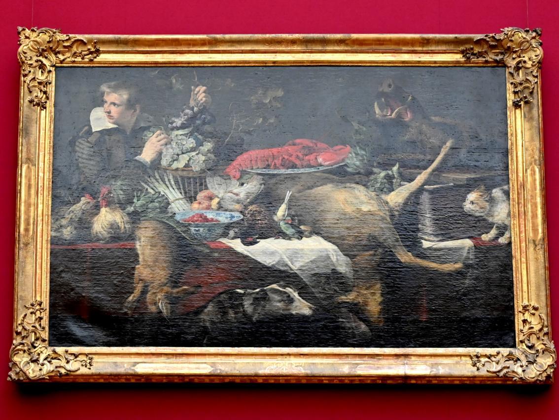 Frans Snyders: Küchenstück (Vorratskammer mit Diener), 1615 - 1620