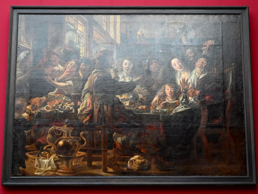 Jacob Jordaens: Wie die Alten sungen, so zwitschern die Jungen, Um 1632 - 1646