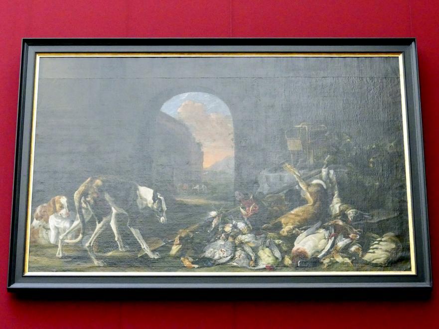 Jan Fyt: Jagdbeute, von Hunden bewacht, 1650