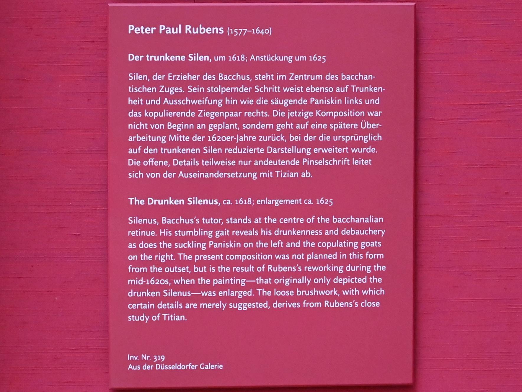 Peter Paul Rubens: Der trunkene Silen, um 1618, Bild 2/2