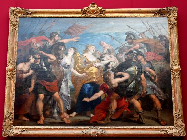 Peter Paul Rubens: Die Aussöhnung der Römer und Sabiner, um 1625