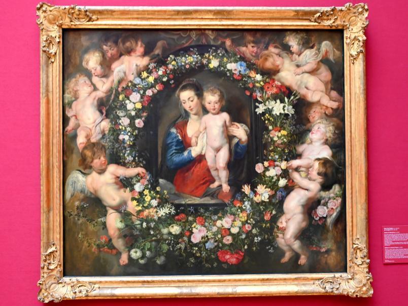 Peter Paul Rubens: Madonna im Blumenkranz, Um 1616 - 1618