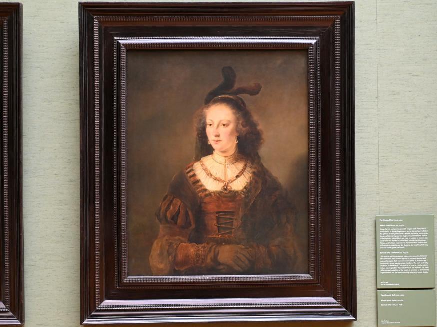 Ferdinand Bol: Bildnis einer Dame, Um 1648