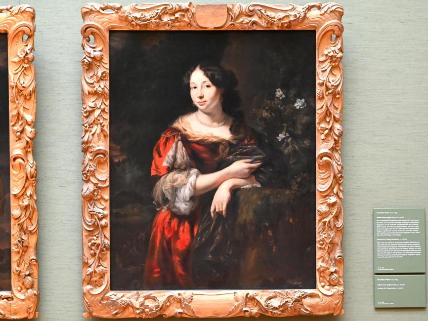 Nicolaes Maes: Bildnis einer jungen Dame, um 1675 - 1680, Bild 1/2