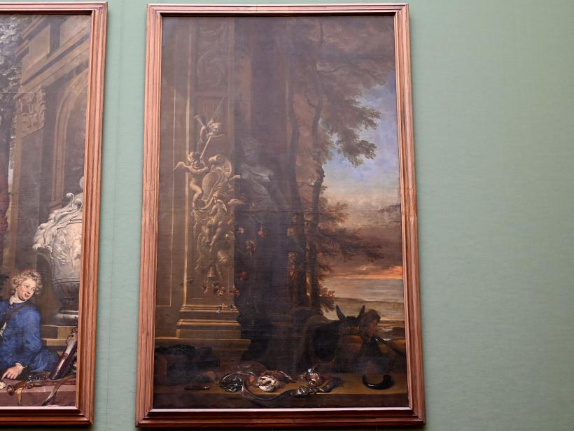 Jan Weenix: Jagdstillleben vor einer Dianastatue, um 1710 - 1716