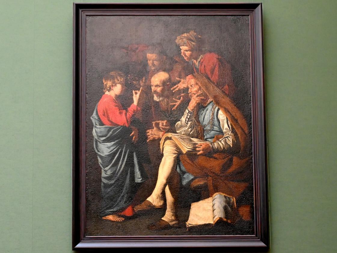 Matthias Stom: Der zwölfjährige Jesus unter den Schriftgelehrten, 1640 - 1645
