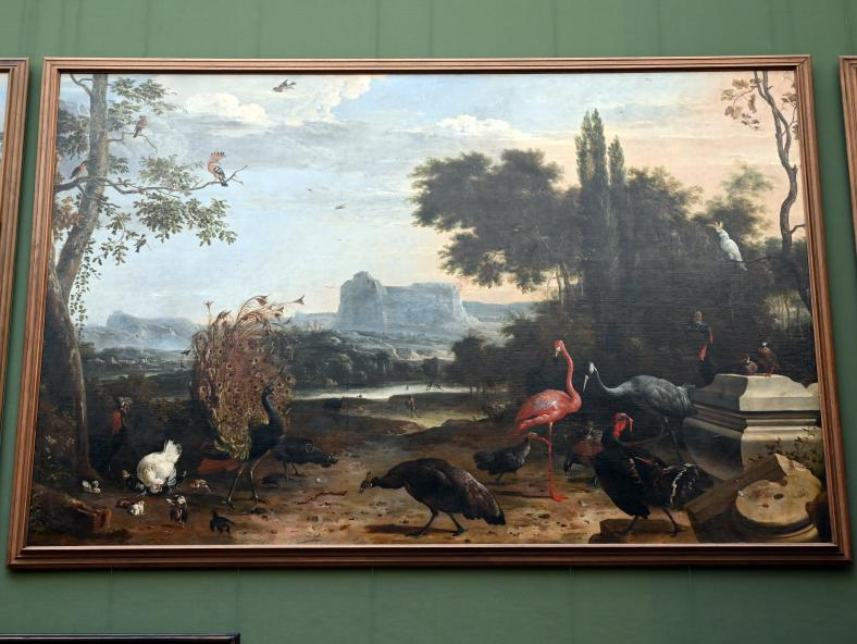 Melchior de Hondecoeter: Vogelpark, Um 1670
