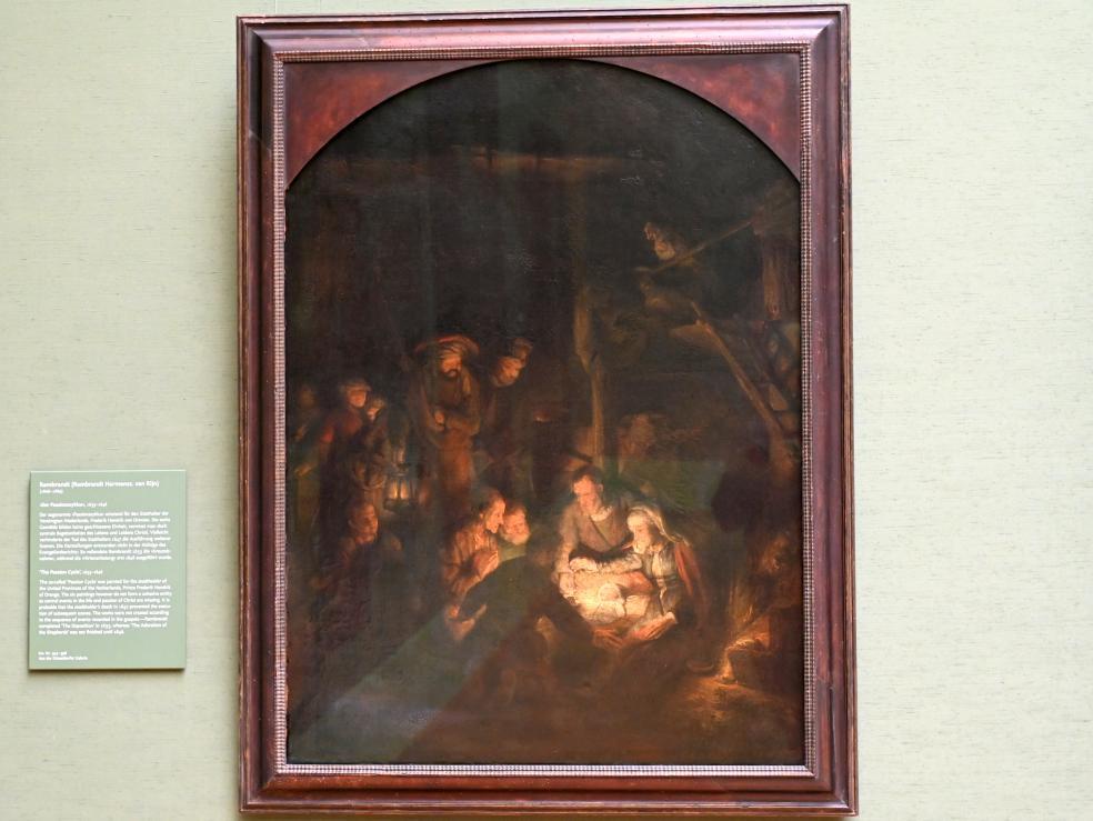 """Rembrandt (Rembrandt Harmenszoon van Rijn): Anbetung der Hirten aus dem """"Passionszyklus"""", 1646"""