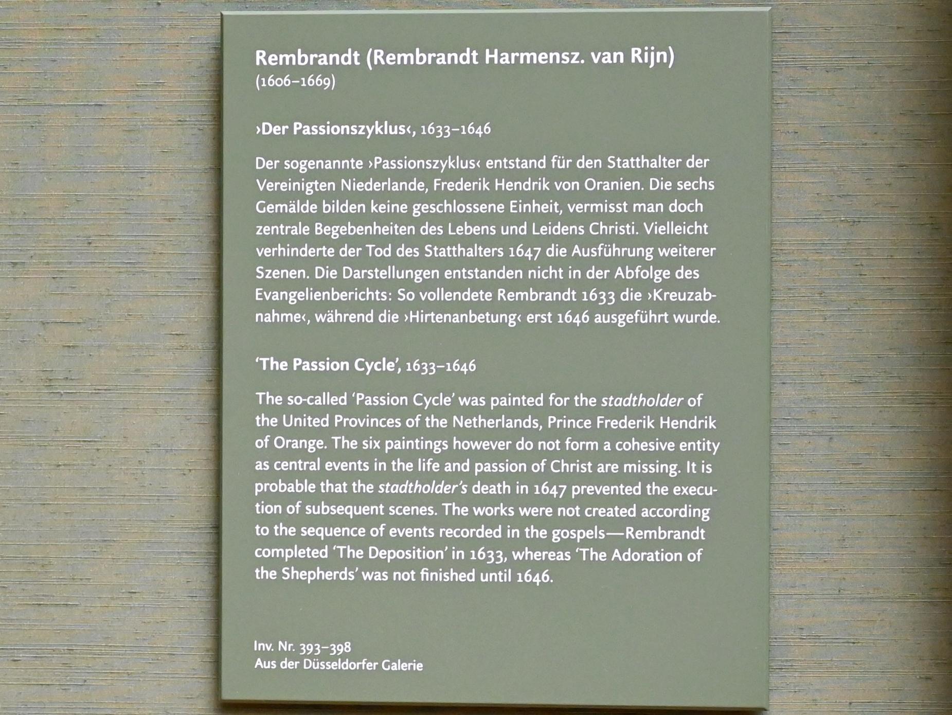 """Rembrandt (Rembrandt Harmenszoon van Rijn): Anbetung der Hirten aus dem """"Passionszyklus"""", 1646, Bild 3/3"""