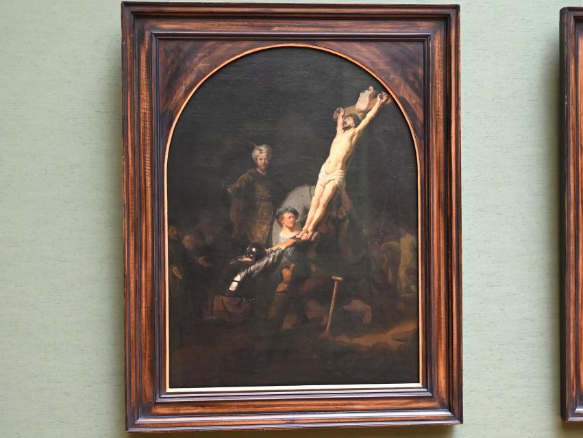 "Rembrandt (Rembrandt Harmenszoon van Rijn): Kreuzaufrichtung aus dem ""Passionszyklus"", um 1633"