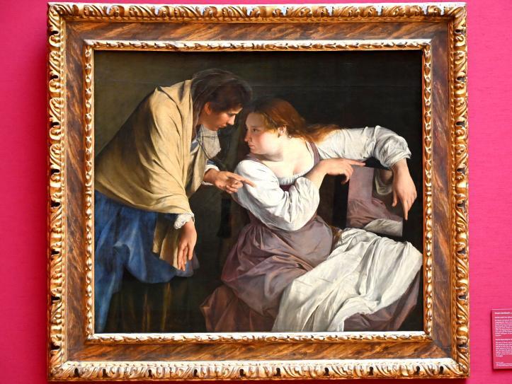 Orazio Gentileschi: Martha tadelt ihre Schwester Maria, Um 1620