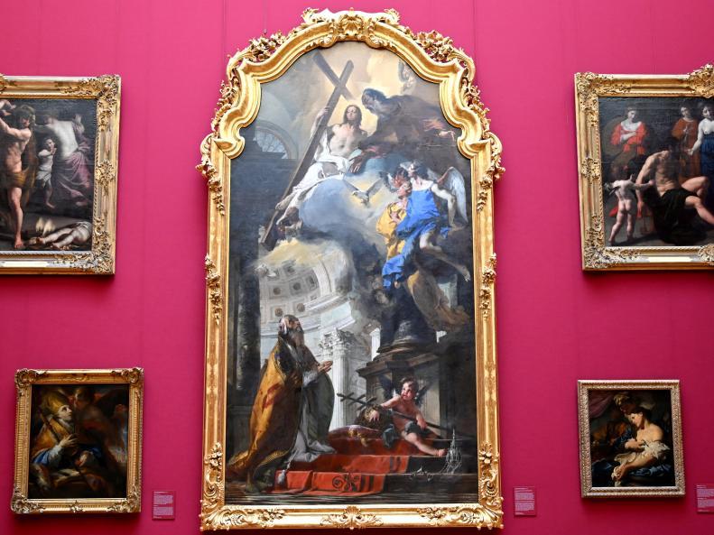 Giovanni Battista Tiepolo: Die Verehrung der Trinität durch den hl. Papst Clemens, Um 1739