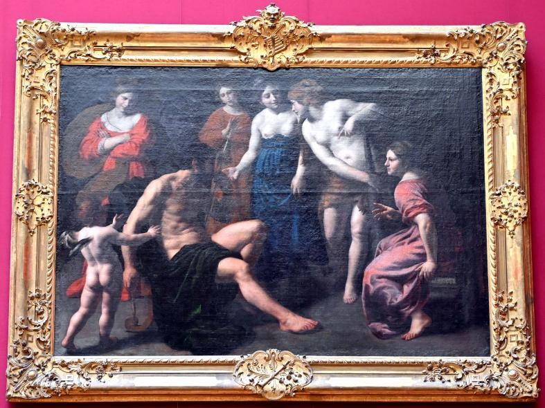 Alessandro Turchi (L'Orbetto): Herkules und Omphale, Um 1620