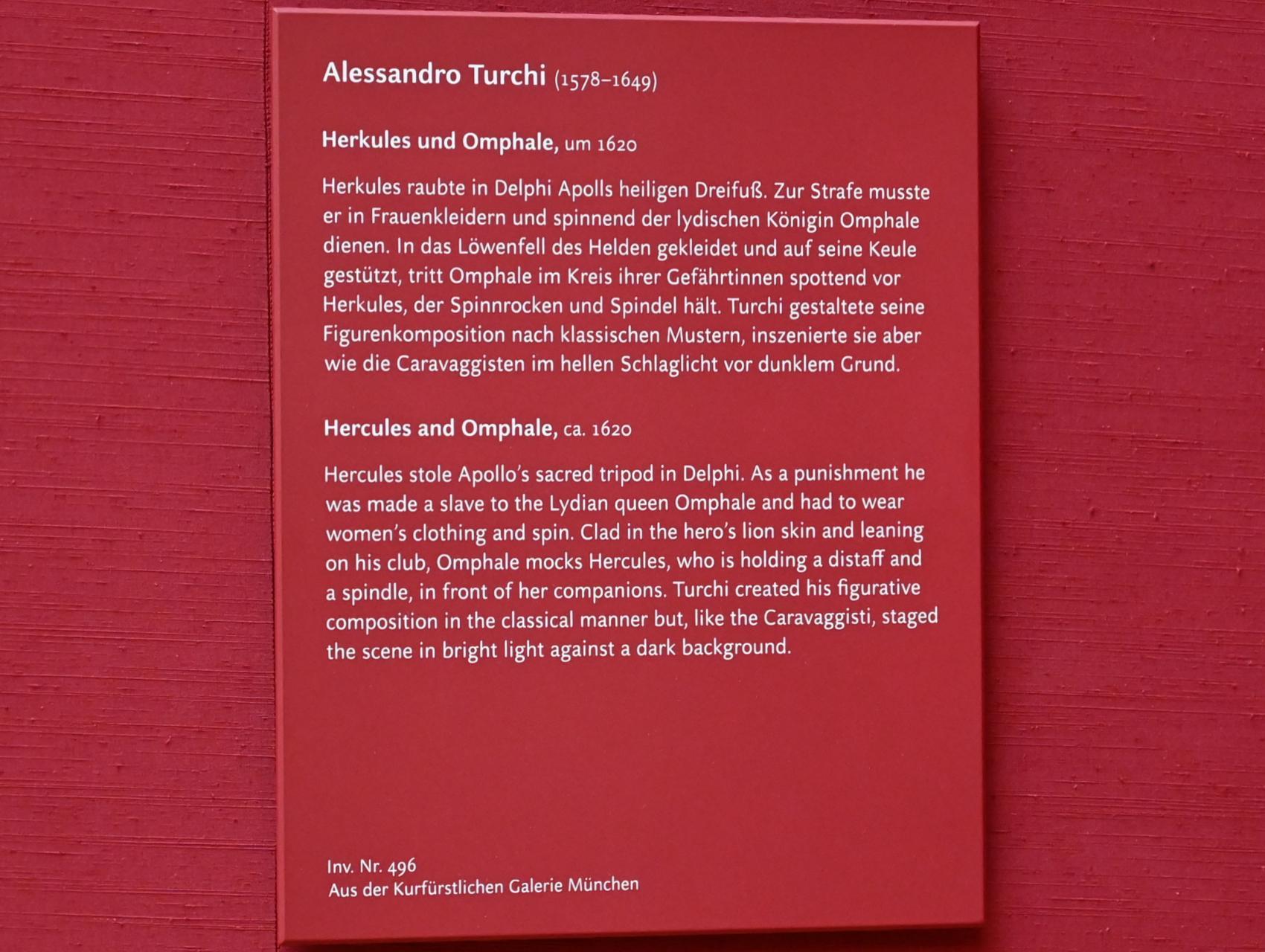 Alessandro Turchi (L'Orbetto): Herkules und Omphale, um 1620, Bild 2/2