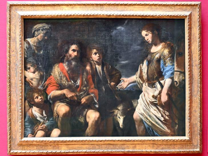 Valentin de Boulogne: Erminia bei den Hirten, Um 1630