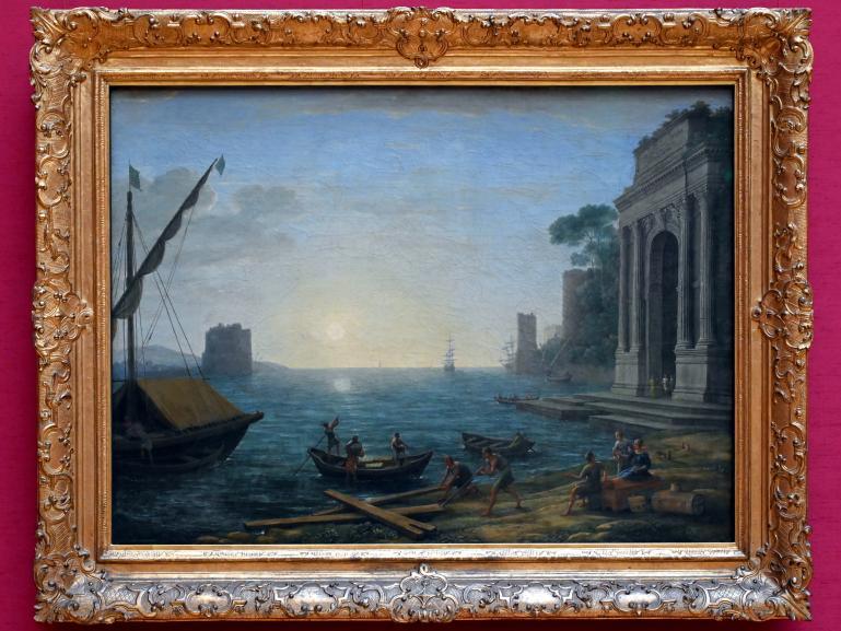 Claude Lorrain (Claude Gellée): Ein Seehafen bei aufgehender Sonne, 1674