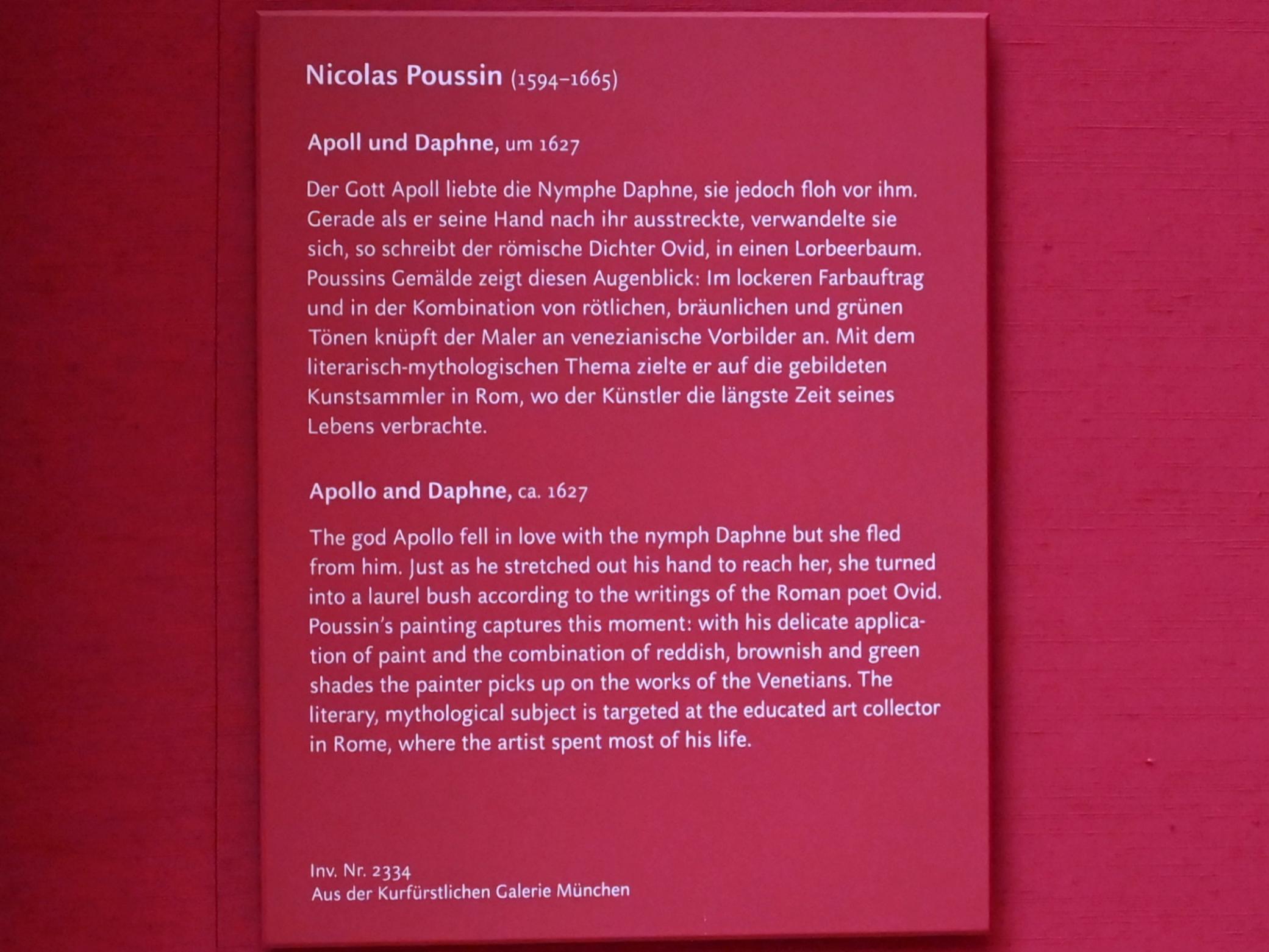 Nicolas Poussin: Apoll und Daphne, Um 1627