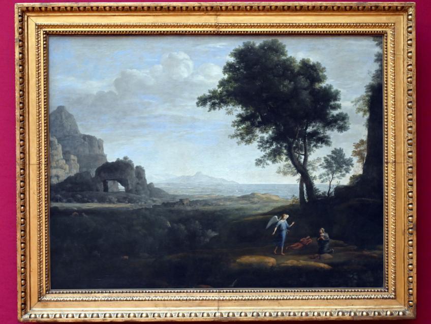 Claude Lorrain (Claude Gellée): Hagar und Ismael in der Wüste, 1668
