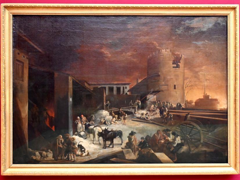 Sébastien Bourdon: Ein römischer Kalkofen, Um 1637