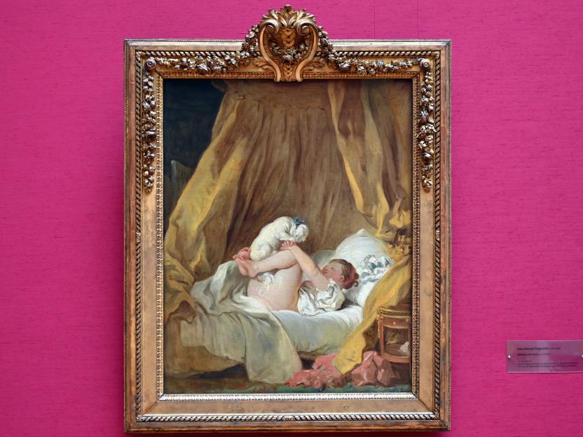 Jean-Honoré Fragonard: Mädchen mit Hund, Um 1770 - 1775