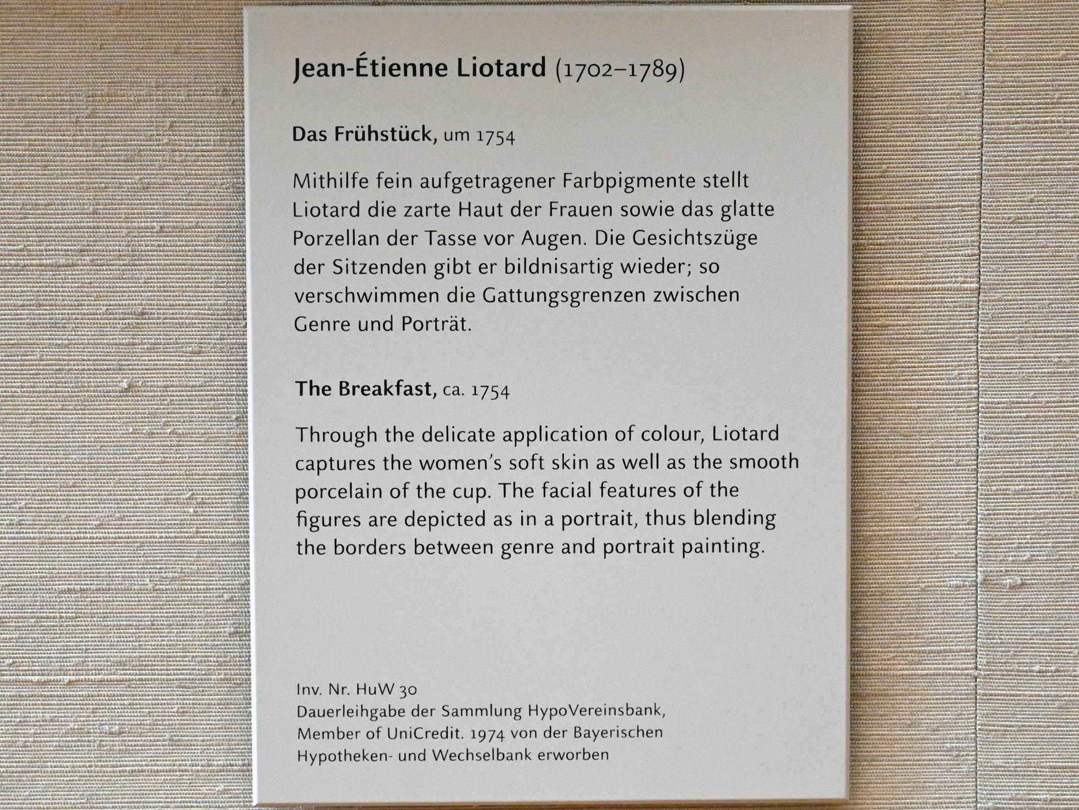 Jean-Étienne Liotard: Das Frühstück, um 1754, Bild 2/2