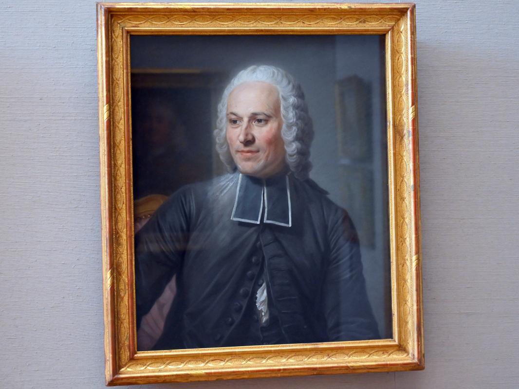Maurice Quentin de La Tour: Mademoiselle Ferrand meditiert über Newton, Um 1753