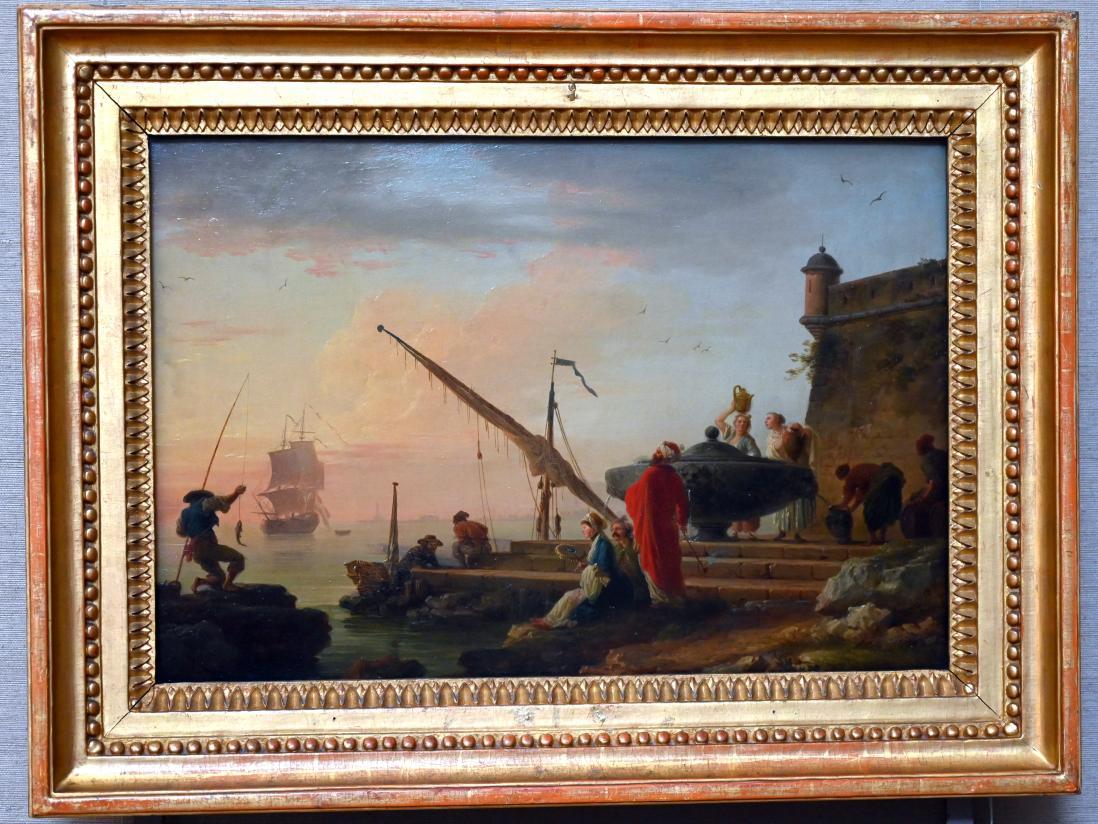 Claude Joseph Vernet: Orientalischer Seehafen bei Sonnenaufgang, Um 1755