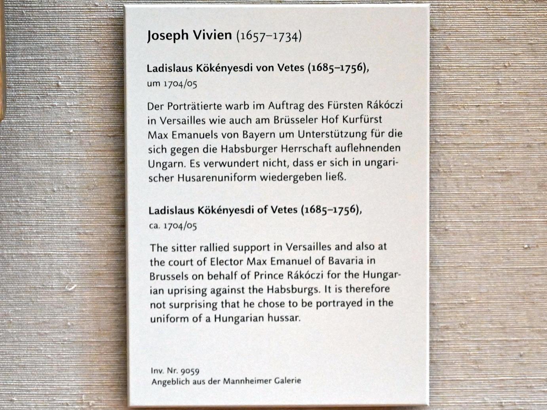 Joseph Vivien: Ladislaus Kökényesdi von Vetes (1685-1756), um 1704 - 1705, Bild 2/2