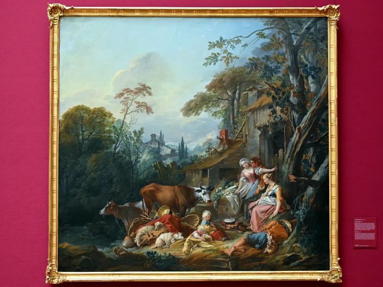 François Boucher: Ländliche Idylle, um 1735, Bild 1/2
