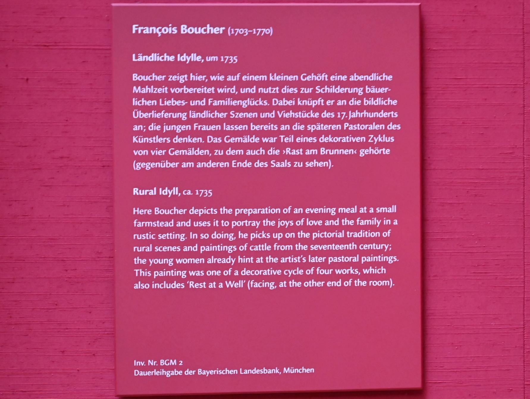 François Boucher: Ländliche Idylle, um 1735, Bild 2/2