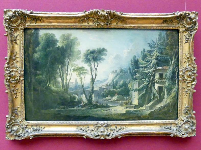 François Boucher: Hirtenlandschaft mit Fluss, 1741