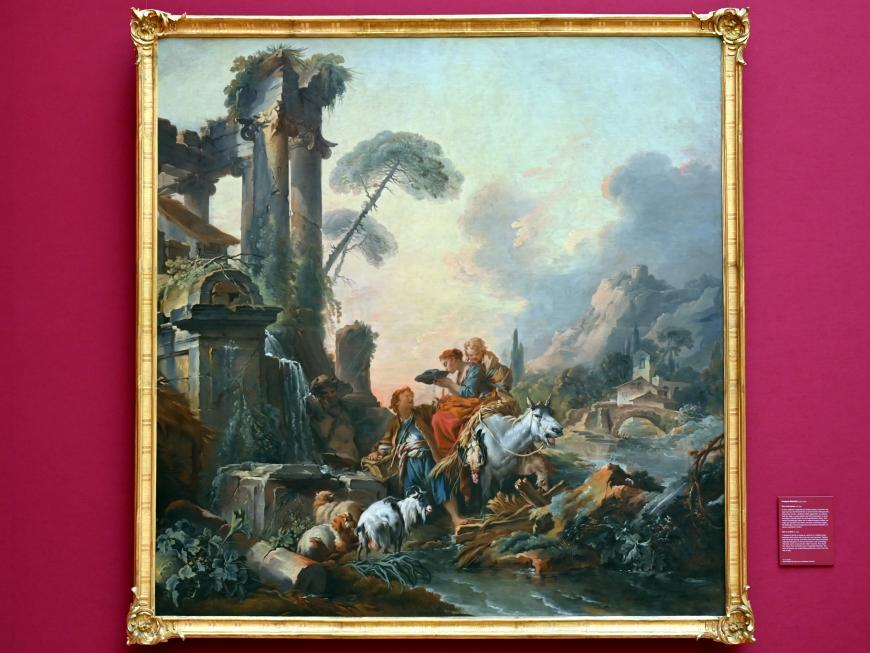François Boucher: Rast am Brunnen, um 1735