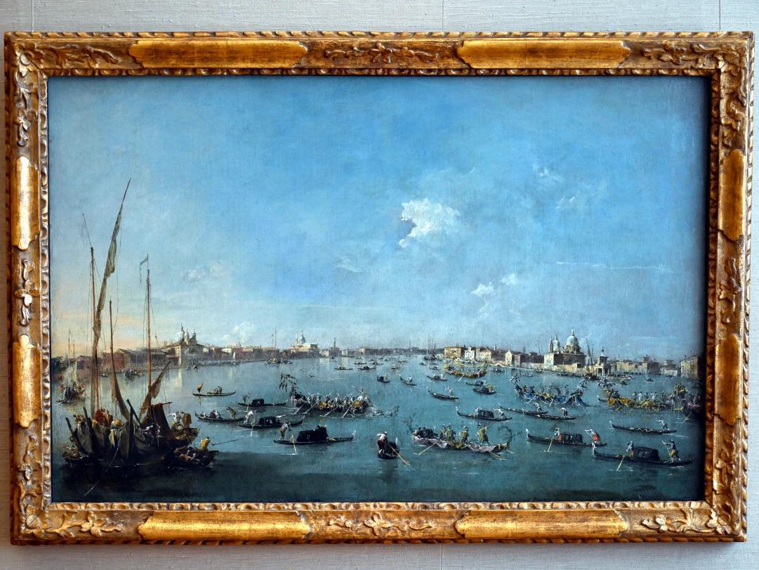 Francesco Guardi: Regatta auf dem Canale della Giudecca, Um 1784 - 1789