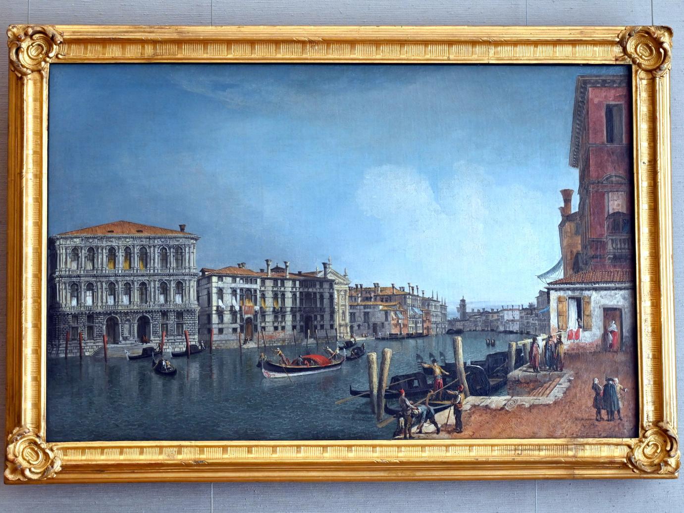 Michele Marieschi: Der Canal Grande bei Cà Pesaro, Um 1734 - 1735