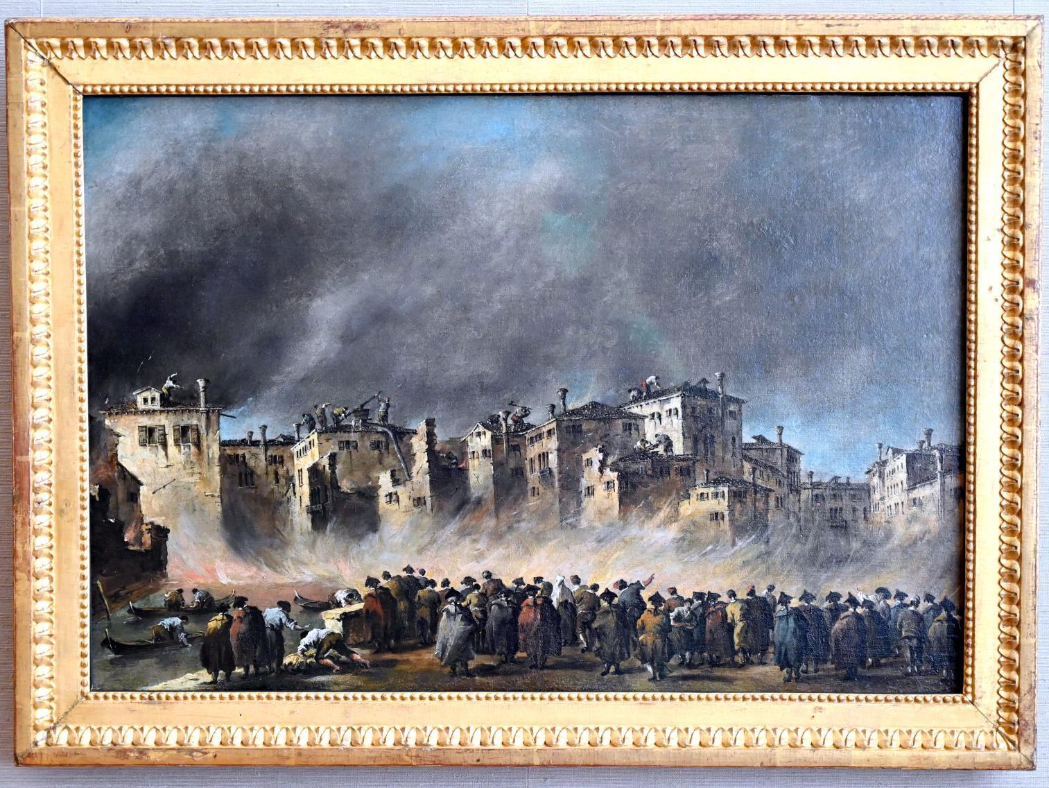 Francesco Guardi: Der Brand im Quartier von San Marcuola, Um 1790