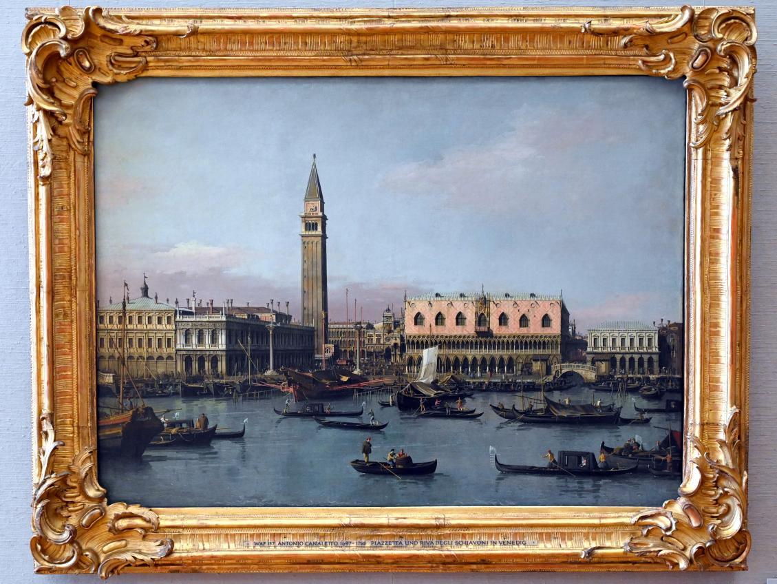 """Giovanni Antonio Canal (""""Canaletto""""): Piazzetta und Bacino di San Marco, Um 1736 - 1738"""