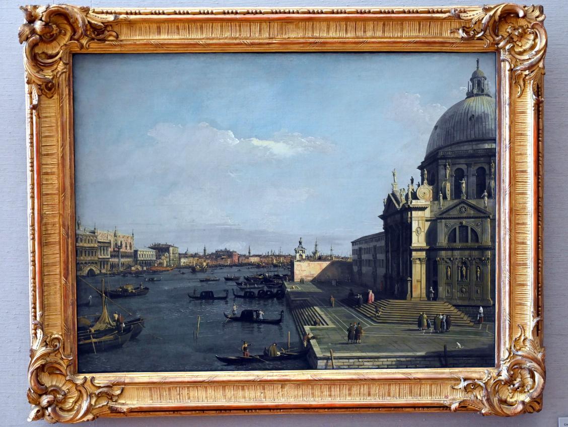 """Giovanni Antonio Canal (""""Canaletto""""): Santa Maria della Salute und die Riva degli Schiavoni in Venedig, Um 1736 - 1738"""